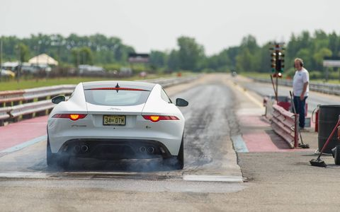 Long-term 2015 Jaguar F-Type R Coupe at Ubly Dragway