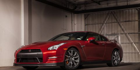 The 2015 Nissan GT-R Premium offers up brutal performance.