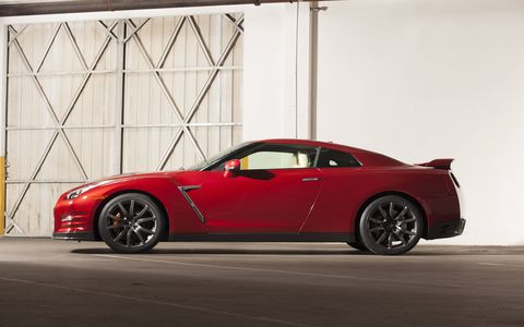 The 2015 Nissan GT-R Premium comes in at a base price of $103,365 with our tester topping off at $106,650.
