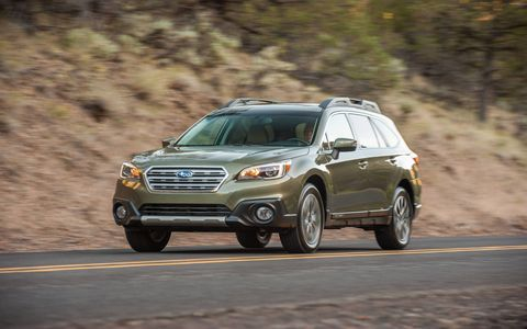 The 2015 Subaru Outback 3.6R Limited comes in at a base price of $33,845 with our tester topping off at $36,835.