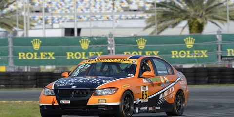 Justin Piscitell took the pole for the Continental Tire Challenge at Daytona.