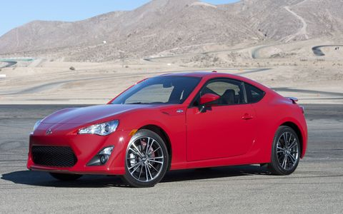 And this is a 2015 FR-S. Can you spot the difference? (Besides the color.)