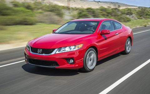The 2015 Honda Accord EX-L Navi Coupe comes in at a base price of $33,190 with our tester receiving no additional options.