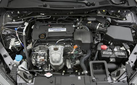The 2015 Honda Accord Sport Sedan is equipped with a 2.4-liter I4.