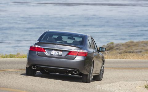 We managed to squeeze a combined 27.0 mpg out of our test 2015 Honda Accord Sport Sedan.