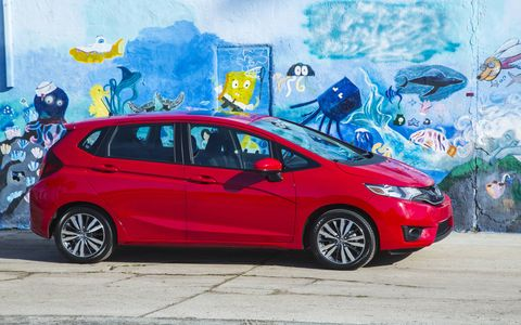 The 2015 Honda Fit EX-L Navi has grown in size over its predecessor.