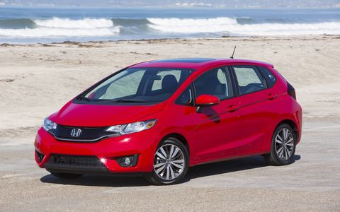 The pairing of the CVT in the 2015 Honda Fit EX-L Navi is a rather good.