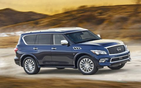 The QX80's 400 hp is more than enough to propel this SUV.