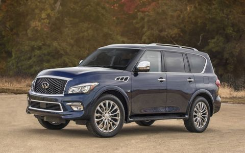 The QX80 is weighs in at almost three tons.