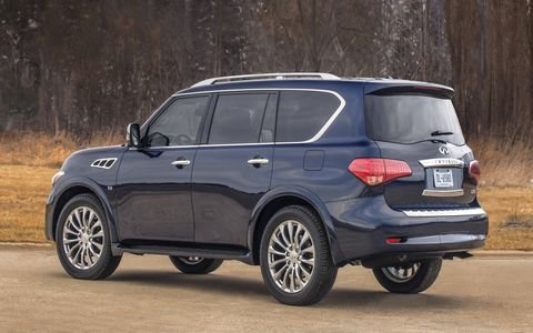 Loaded with options, our QX80 tester came in at almost $80,000.
