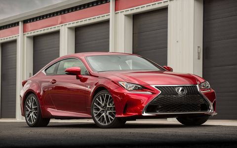 In sport plus mode, this Lexus RC-350 at least sounds good.
