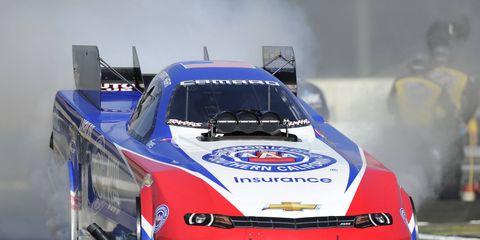 John Force Racing's Robert Hight won last year at Charlotte.