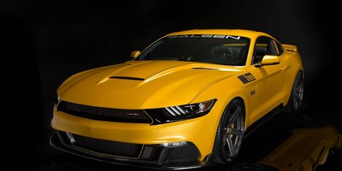 Saleen says the Black Label outperforms the previous generation not only with power, but also with handling, thanks to the new independent rear suspension setup of the 2015 Mustang.