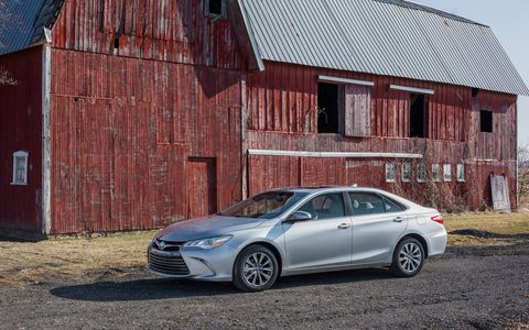 The 2015 Toyota Camry goes on sale this month with a base price of $23,795.