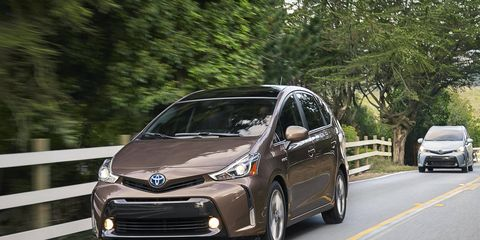 The Prius V has received a revised front fascia, with a much more prominent bumper.