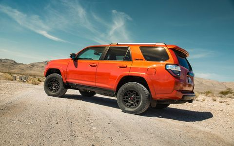 While the competition has moved to a unibody platform, the 2015 Toyota 4Runner TRD Pro continues to use body-on-frame.