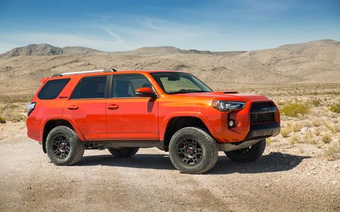 The 2015 Toyota 4Runner TRD Pro looks like a rugged workhorse all around.