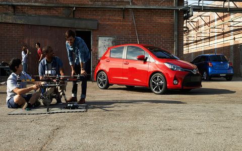 The 2015 Toyota Yaris gets a 1.5-liter four.