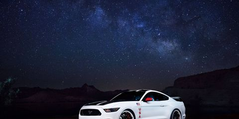 The 2015 Ford Mustang GT Apollo Edition has underbody lighting to symbolize 'atmospheric re-entry.'