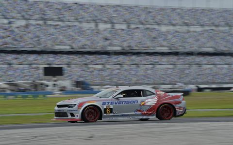 Color and action from the season-opening race in the Continental Tire SportsCar Challenge at Daytona International Speedway on Friday.