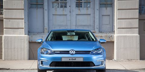 The 2015 Volkswagen e-Golf SEL Premium sits on the seventh-generation Golf platform.