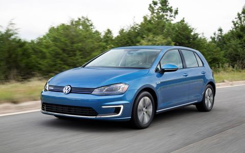 The 2015 Volkswagen e-Golf SEL Premium comes in at a base price of $36,265.