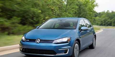 Driving the 2015 Volkswagen e-Golf SEL Premium is a pleasure due to the solid chassis and excellent handling. (Limited model shown)