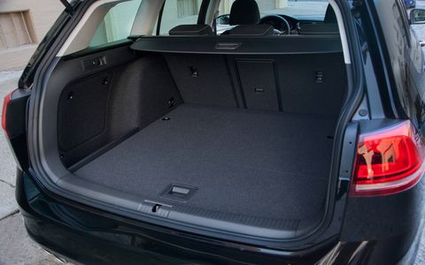 The SportWagen has a cavernous trunk that's in line with those of compact SUVs.