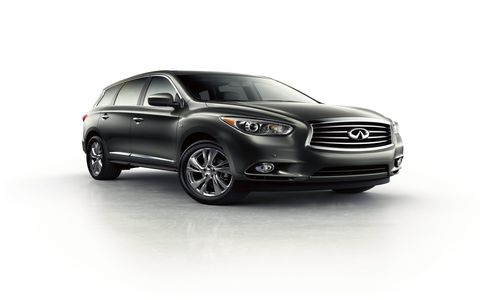 The Infiniti QX60 features a standard 3.5-liter DOHC V6 rated at 265 horsepower at 6,400 rpm and 248 lb-ft of torque at 4,400 rpm.