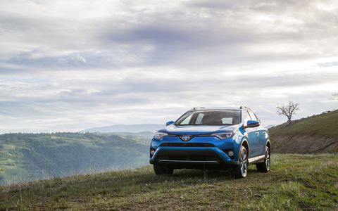 The 2016 Toyota RAV4 Hybrid crossover was introduced at the 2015 New York auto show.