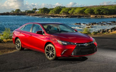 The 2017 Toyota Camry XSE has a 268-hp V6 engine and a slightly stiffer suspension than the rest of the lineup.