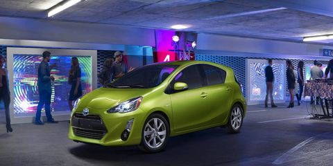 The 2015 Toyota Prius c has a more aggressive, sportier look and upgraded interior features with available advanced technology features.