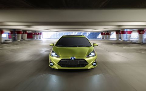 The Prius c Four now comes with a standard power tilt/slide moonroof and integrated backup camera.