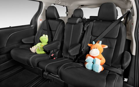 The Toyota Sienna offers a choice between seven- and eight-passenger configurations and comes chock full of versatile features for shuttling passengers comfortably.