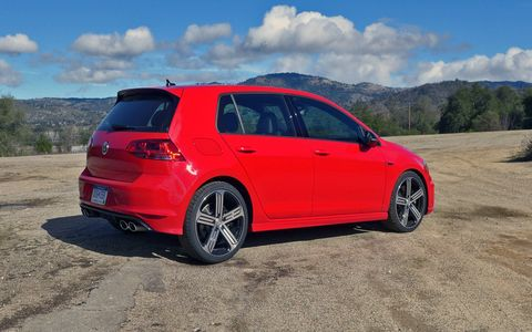 The 2015 Golf R is subtle -- quad exhausts and small badges are the biggest tip-offs as to its true nature.