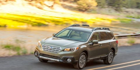 The 2015 Outback 2.5i Premium comes with the Lineartronic CVT, which features paddle-shift control switches and is instrumental in the Outback's significantly improved fuel economy.