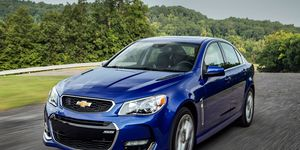 The Chevy SS gets a 6.2-liter V8 making 415 hp and 415 lb-ft of torque. Dual-mode exhaust is standard, as is Magnetic Ride Control and navigation.