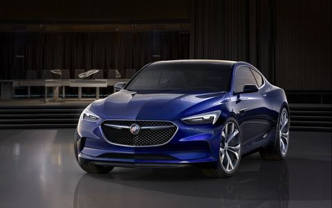 Buick unveiled its stunning Avista concept ahead of the 2016 Detroit auto show. The rear-wheel drive 2+2 two-door packs a 400-hp twin-turbocharged 3.0-liter V6 and wears elegant hardtop coupe lines.
