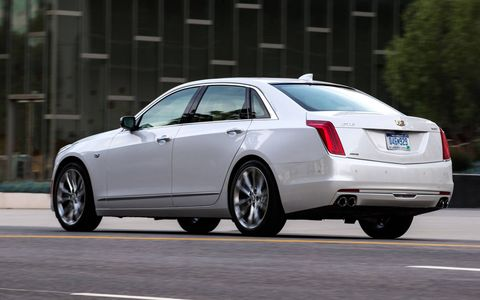 The CT6 is Cadillac's new big luxury car, set to do battle with the BMW's and Mercedes' of the world. Size-wise, it slots between a 5-Series and 7-Series.