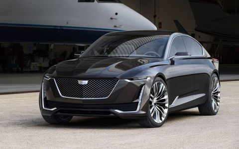 The Cadillac Escala debuted at Pebble Beach before the yearly Concours d'Elegance.