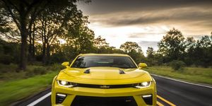 The 455 hp Camaro SS coupe sprints from 0-60 mph in 4.0 seconds and is equipped with a six-speed manual transmission