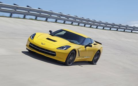 The Corvette Stingray backs its performance capability with more than 450 hp and an EPA-estimated 17 mpg city driving and 29 mpg on the highway with the seven-speed manual transmission.
