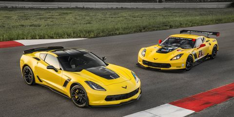 The 2016 Corvette Z06 C7.R Edition pays homage to the Corvette Racing race cars. Offered in coupe and convertible models, only 500 will be built -- each with a unique, sequential VIN.
