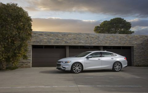 The 2017 Chevy Malibu is offered in L, LS, LT, Hybrid and Premier trims. The 1.5-liter turbo is standard on L, LS and LT. A 2.0-liter turbo four with a nine-speed is standard on the Premier.