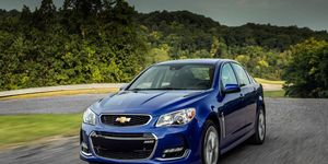 The Chevy SS gets a 6.2-liter V8 making 415 hp and 415 lb-ft of torque.