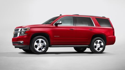 The Chevy Tahoe comes with either a 5.3-liter or 6.2-liter V8.