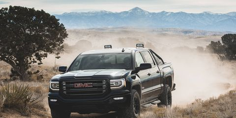 The X trim adds even more off-road parts to the All Terrain Sierra.