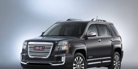 The refreshed 2016 GMC Terrain and Terrain Denali were revealed just before the start of the New York auto show.