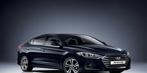 A large grille for a large car: Hyundai's new generation of Elantra looks more grown up than previous models. It's called the Avante in South Korea.