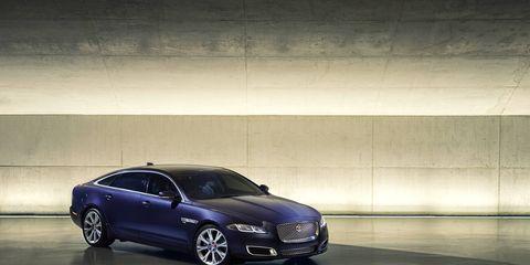 The 2016 Jaguar XJ luxury sedan -- exterior styling